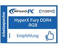 Allround PC Fury DDR4 RGB Empfehlenswert Award