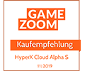 Gamezoom Cloud Alpha S Empfehlung Award