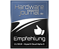 HW Journal Cloud Alpha S Empfehlung Award