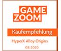 Gamezoom Alloy Origins  Kaufempfehlung Award