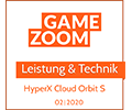 Gamezoom Cloud Orbit S Award Leistung & Technik Award
