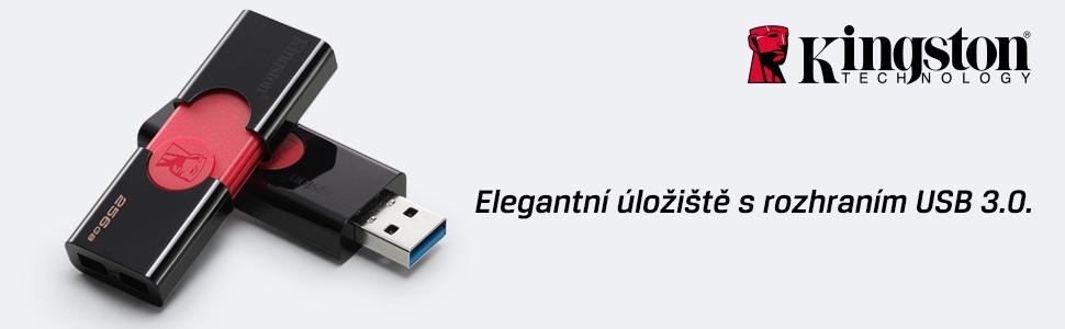 Elegantní úložiště s rozhraním USB 3.0.