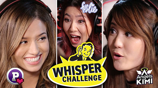 Pokimane Fuslie and Angels Kimi whisper challenge video thumbnail