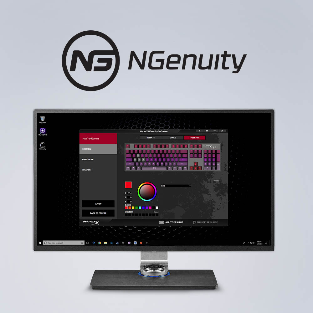 HyperX NGenuity software enables advanced customization