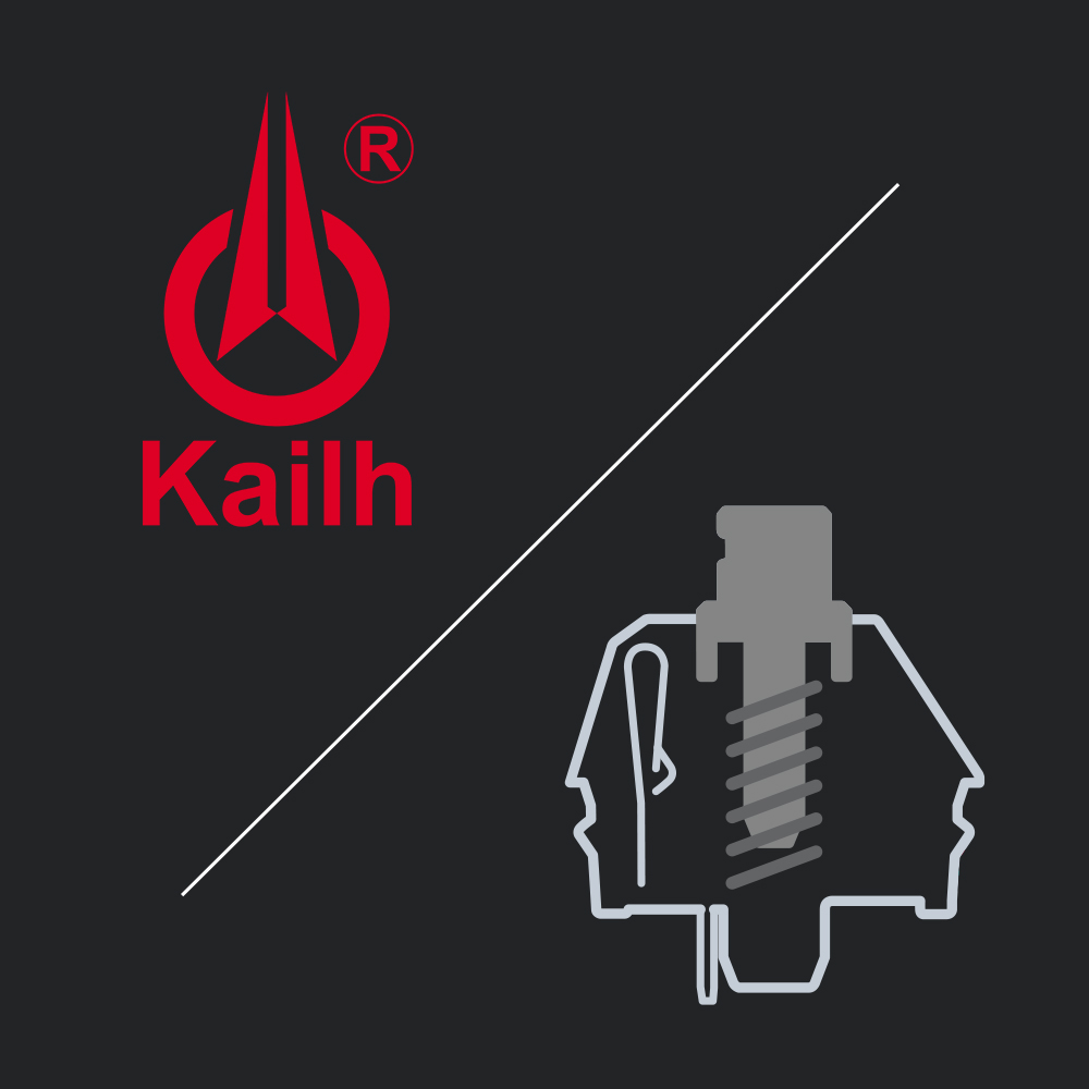 Kailh Silver Speed keyswitches with ultra-rapid responsiveness