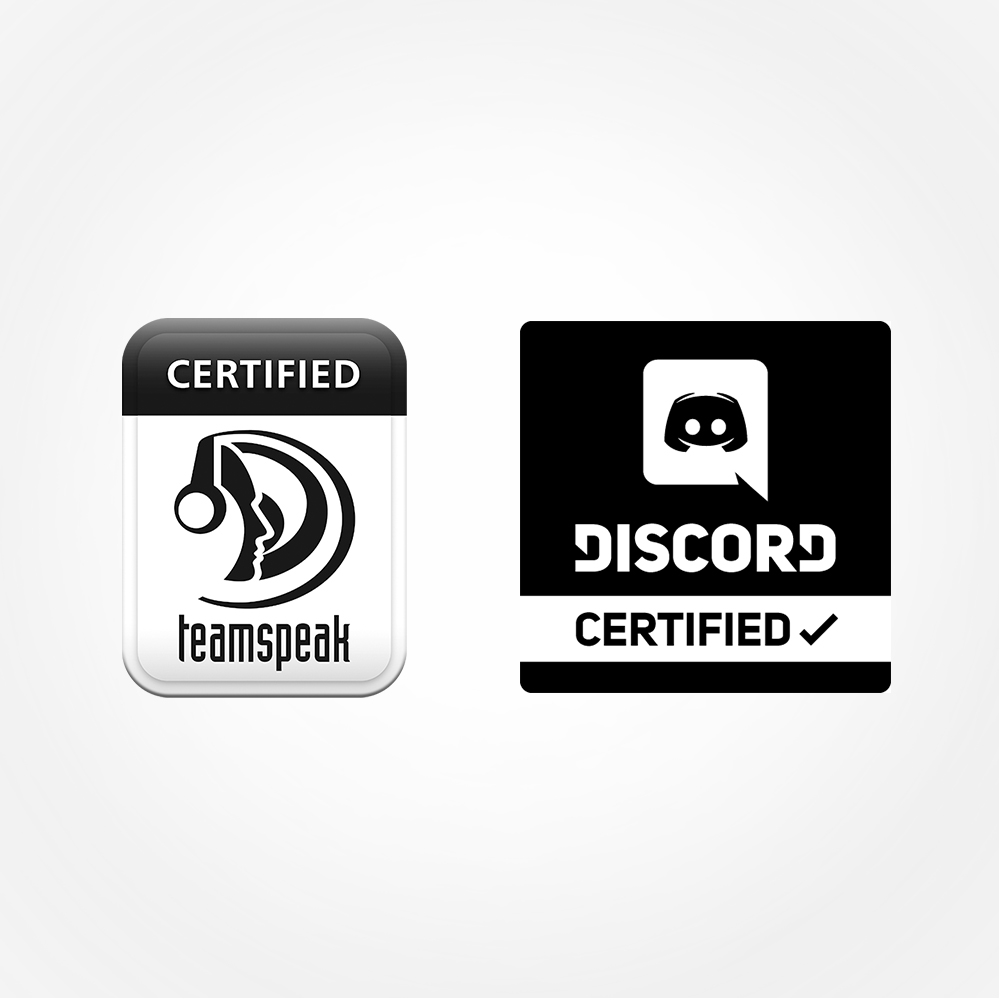 TeamSpeak™ and Discord certified so you'll be heard loud and clear