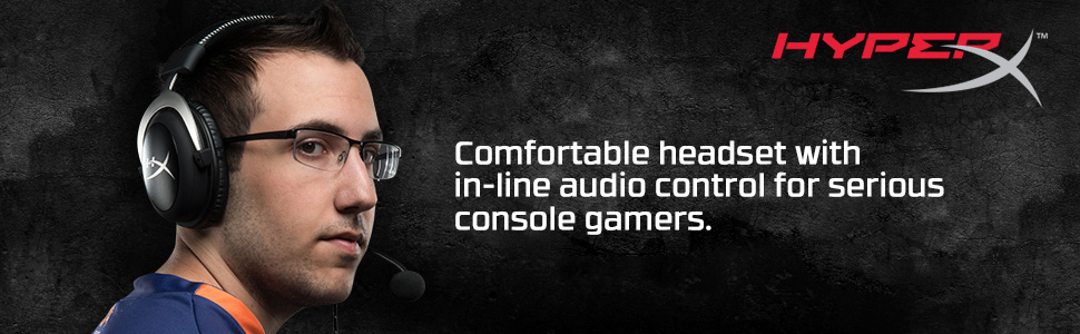 Comfortable headset with in-line audio control for serious console gamers.