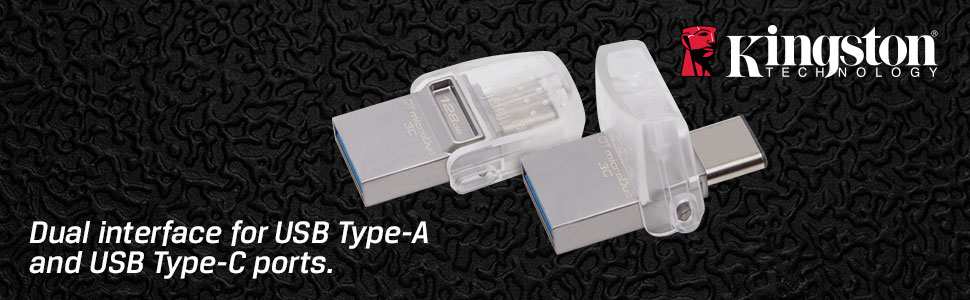 Dual interface for USB Type-A and USB Type-C ports.