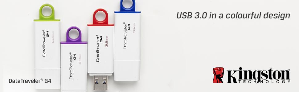 USB 3.0 in a colourful design