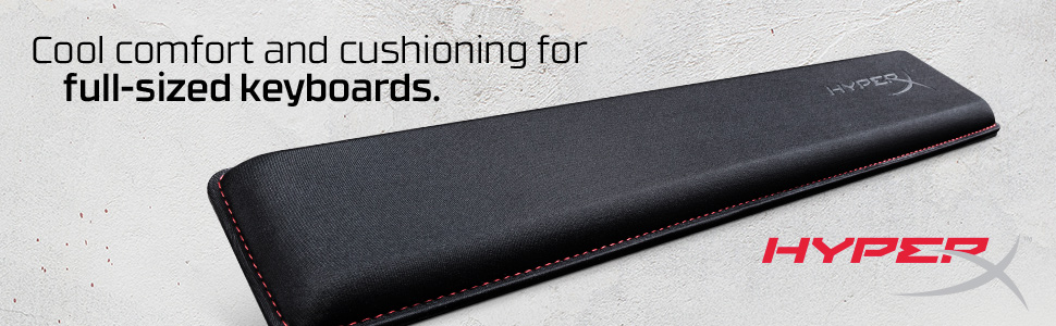 Cool comfort and cushioning for full-sized keyboards.