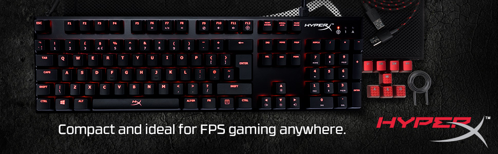 Compact and ideal for FPS gaming anywhere.