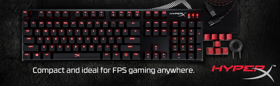 Compact ultra-portable keyboard built for elite-level FPS gaming.