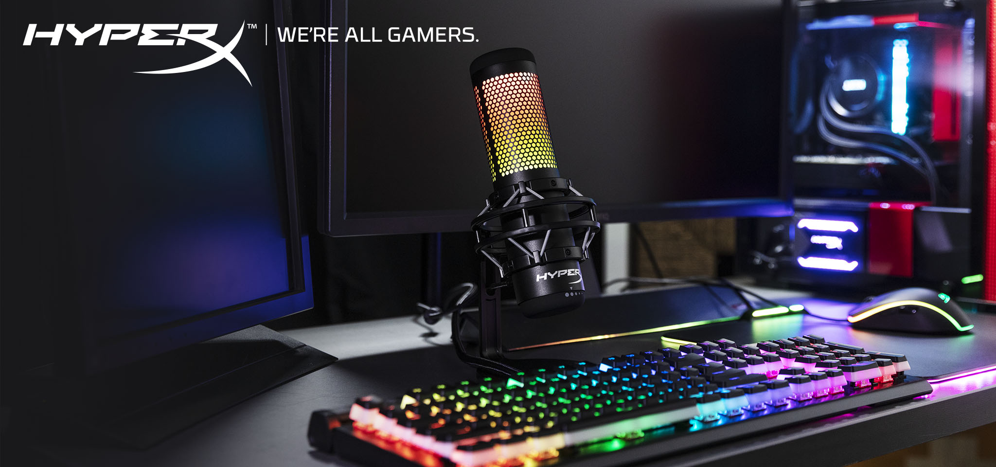 Stunning RGB microphone for streamers and content creators.