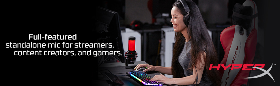 Full-featured standalone mic for streamers, content creators, and gamers.