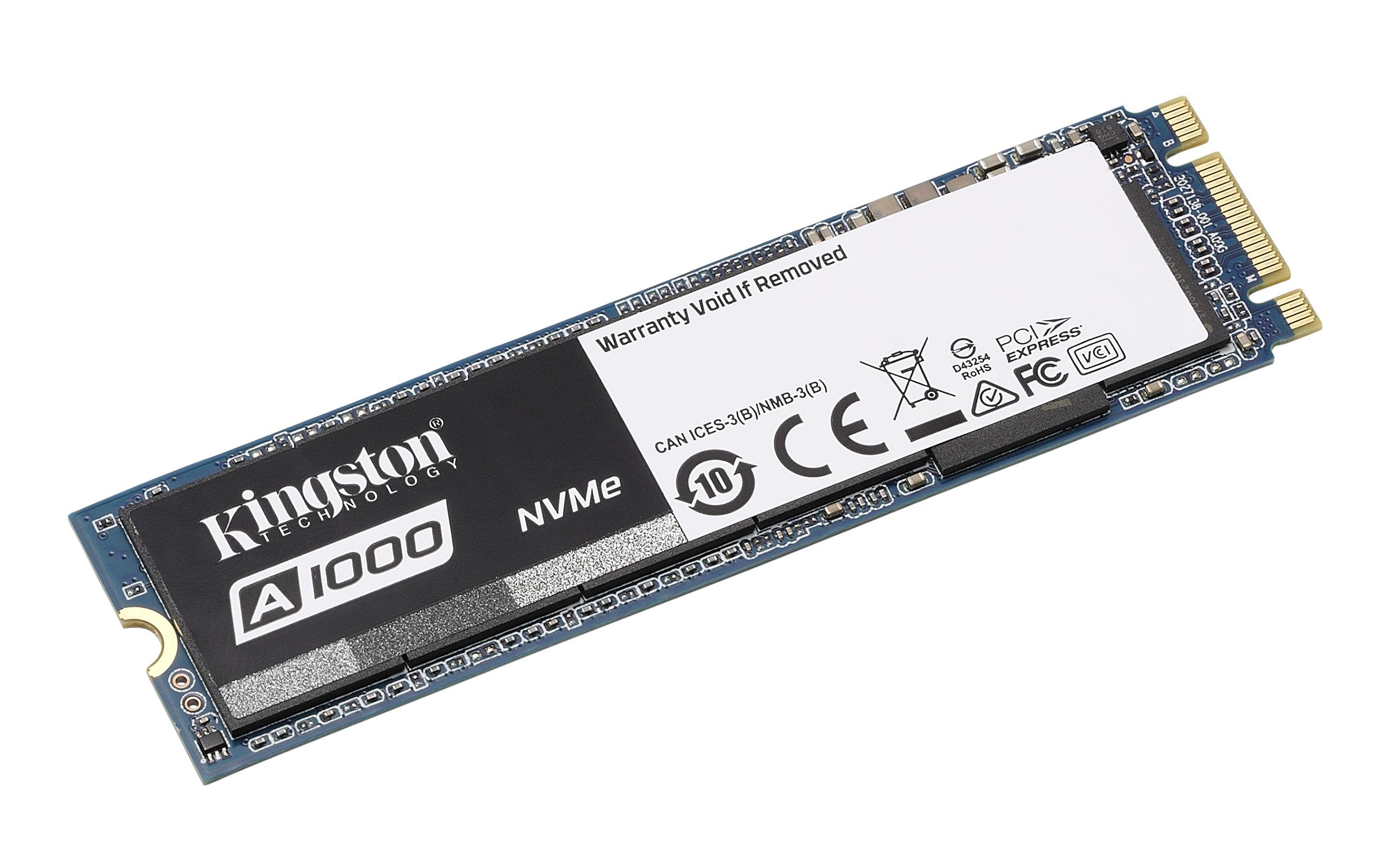 A1000 NVMe PCIe SSD – 240GB-960GB | Kingston