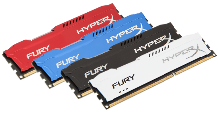 HyperX Releases 'FURY' Memory Line for Entry-Level Overclocking and Gaming Enthusiasts