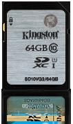 KINGSTON 64GB SDXC Class10 - Muistikortit - 740617243512 - 1