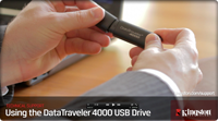 Using the DataTraveler 4000 USB Flash Drive