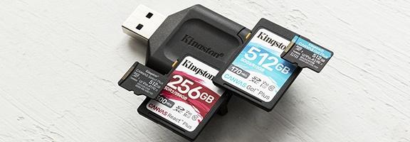 Tarjetas de memoria Flash - SD, microSD y Compact
