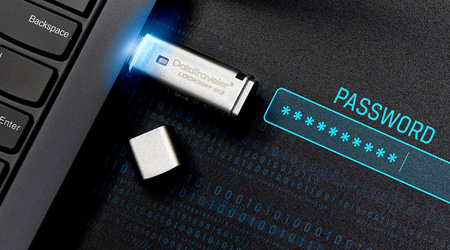 Kingston USB Flash Drive with password protection