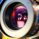 Объектив камеры формата 4K