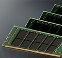 Kingston memory modules on a grey background with a reflection beneath it