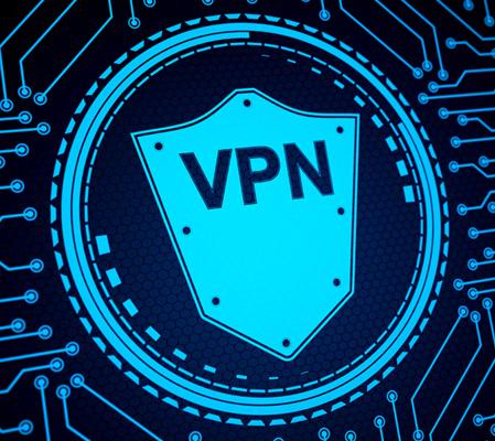 VPN shield graphic