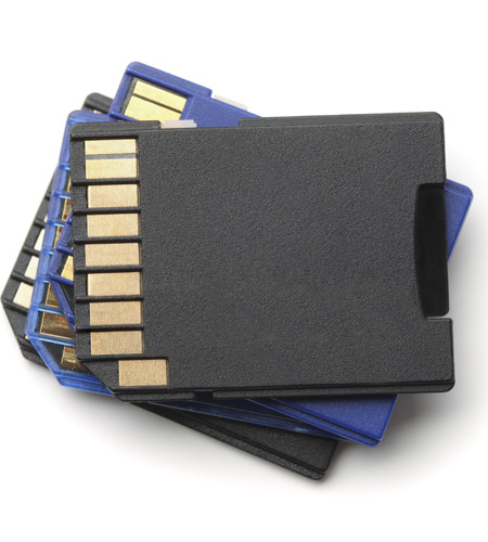 Stack of SD cards