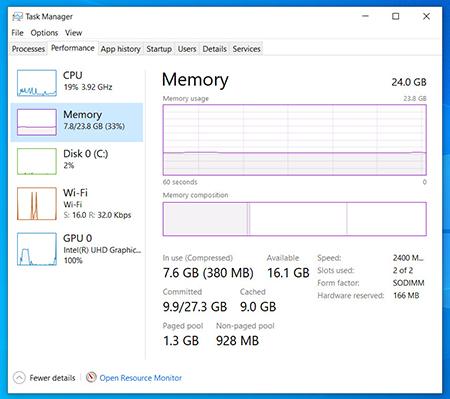 Okno Zabezpieczenia i konserwacja w systemie Windows 10