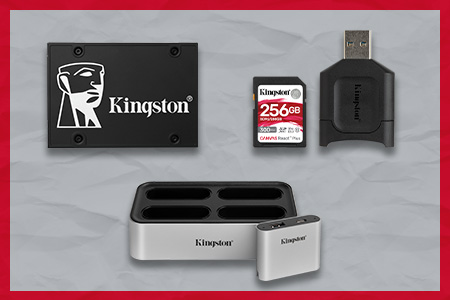 Kingston Workflow Station and Readers, Canvas React Plus SD and micro SD Memory Cards with Readers and KC600 SSD