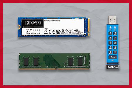Unidad Flash USB cifrada SSD NV1 DT2000 de Kingston y memoria ValueRAM