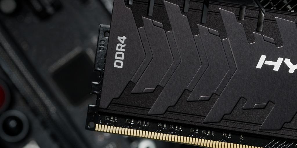 Close up of Kingston FURY Predator DDR4 RAM