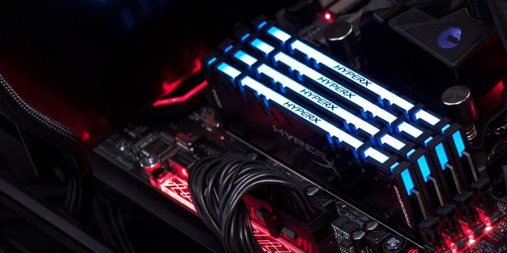 Kingston FURY Predator DDR4 RGB Blue LED installed in a PC