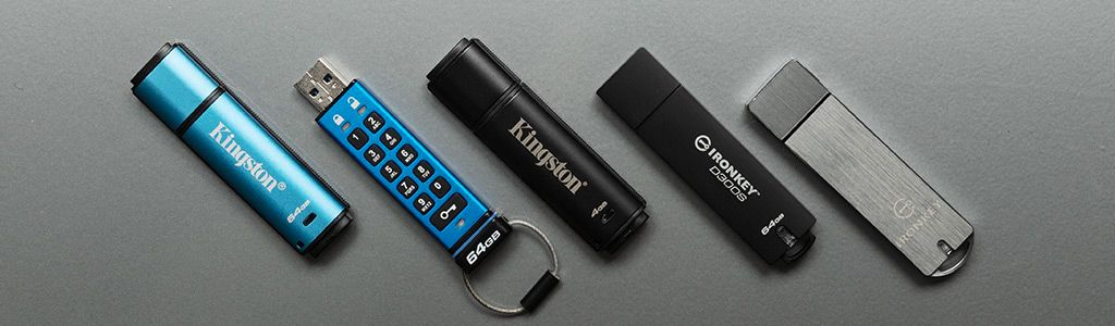 All of Kingston's encrypted secure USB flash drives
