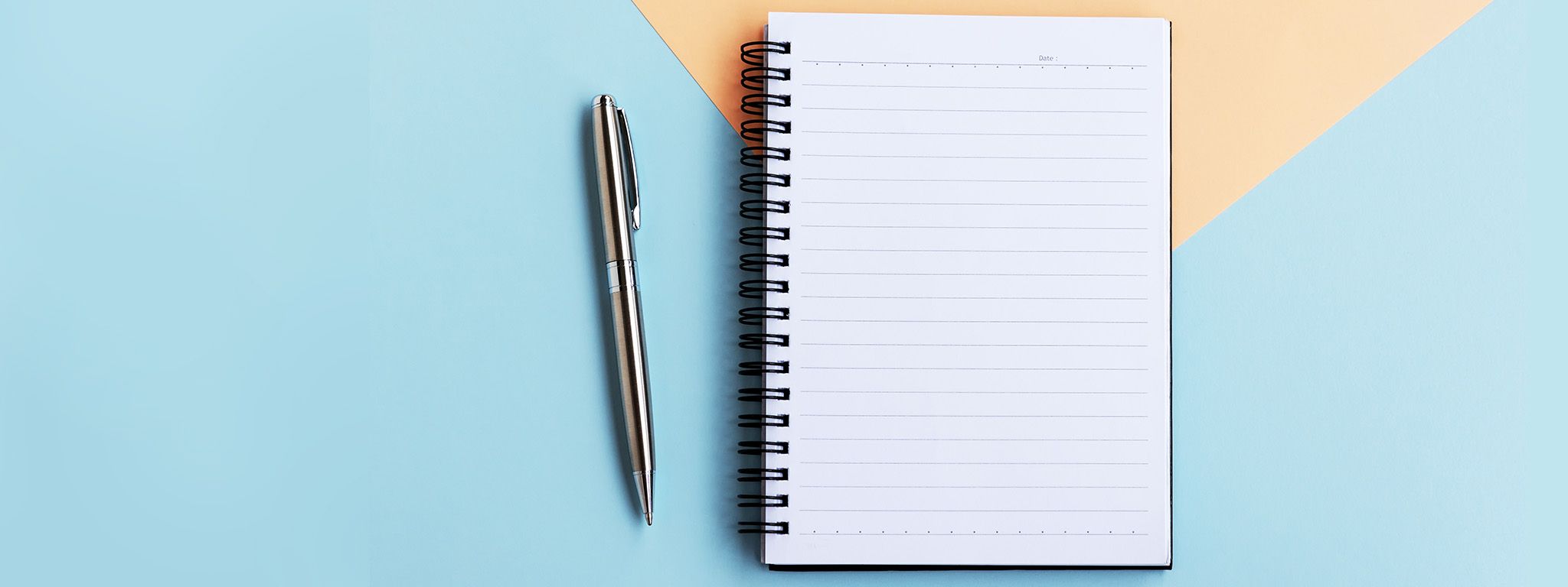 A pen and notepad