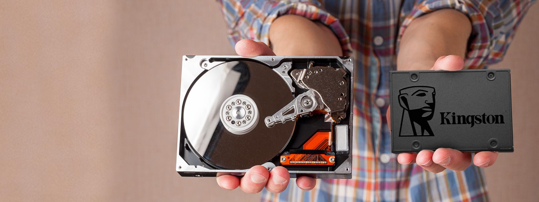 Твердотельный накопитель и жесткий диск для сравнения