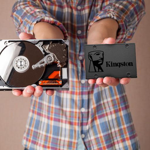 Un SSD y un HDD para comparar