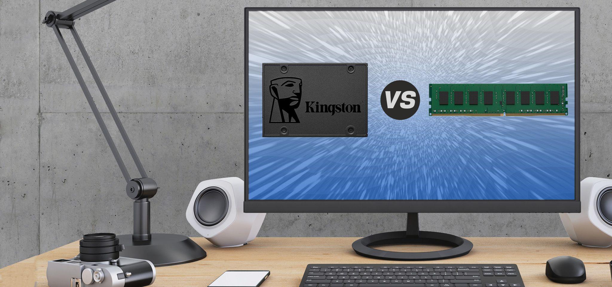 Schermata di computer con immagine che raffronta memorie e dispositivi di storage