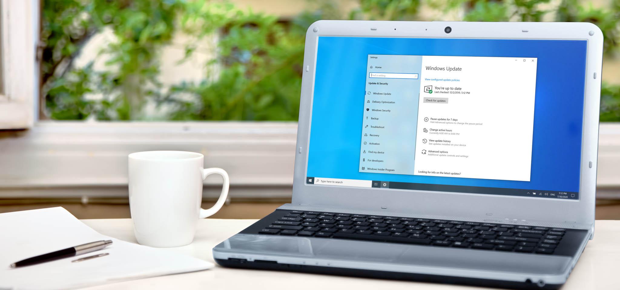 Windows 10 실행 노트북