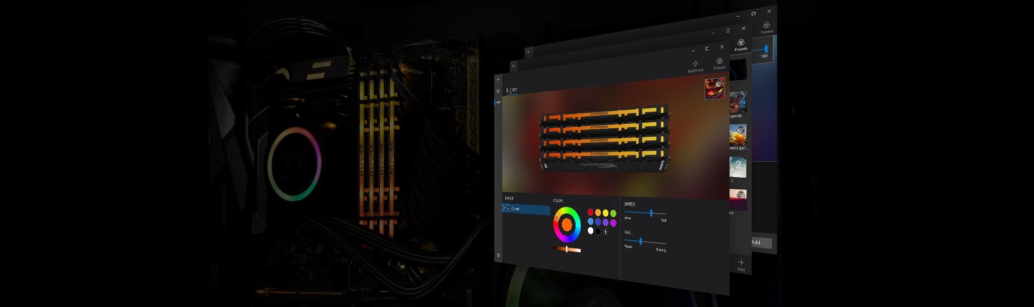 Dynamic RGB lighting effects