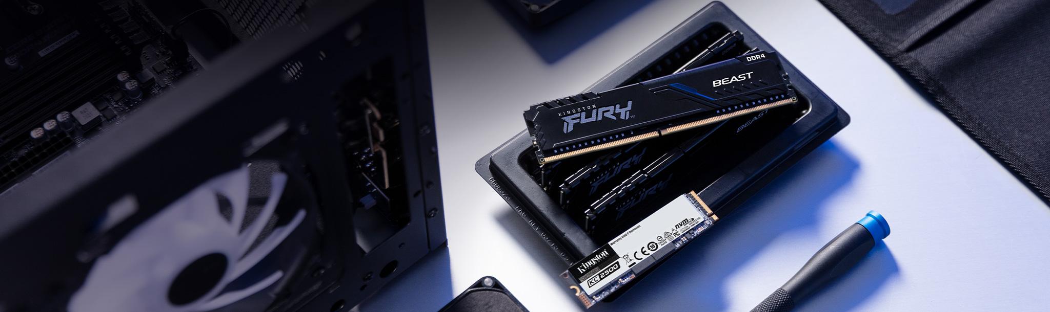 Kingston FURY 메모리 및 SSD를 특징으로 하는 게임용 PC