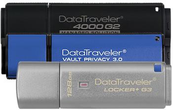 USB-накопители с шифрованием компании Kingston