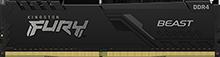 32GB (4x8GB) DDR4 2666MHz CL16 FURY Beast Black