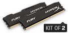 HyperX FURY Memory Black       -  16GB Kit*(2x8GB) -  DDR3 1600MHz  CL10 DIMM