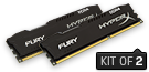 HyperX FURY Memory Black       -  8GB Kit*(2x4GB) -  DDR4 2400MHz  CL15 DIMM