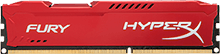 HyperX FURY Memory Red         -  4GB Module -  DDR3 1600MHz  CL10 DIMM