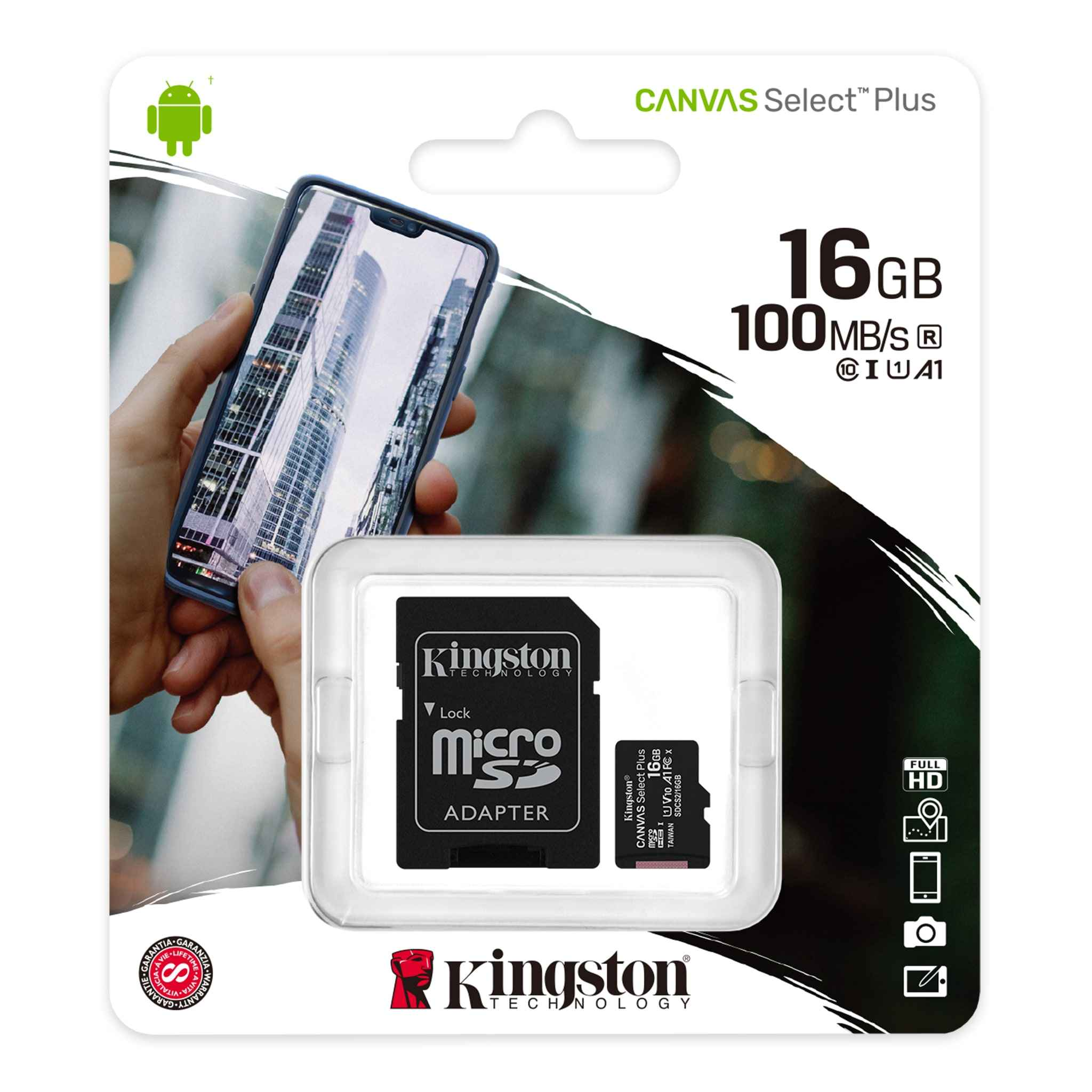 100MBs Works with Kingston Kingston 64GB Microsoft Lumia 535 MicroSDXC Canvas Select Plus Card Verified by SanFlash.