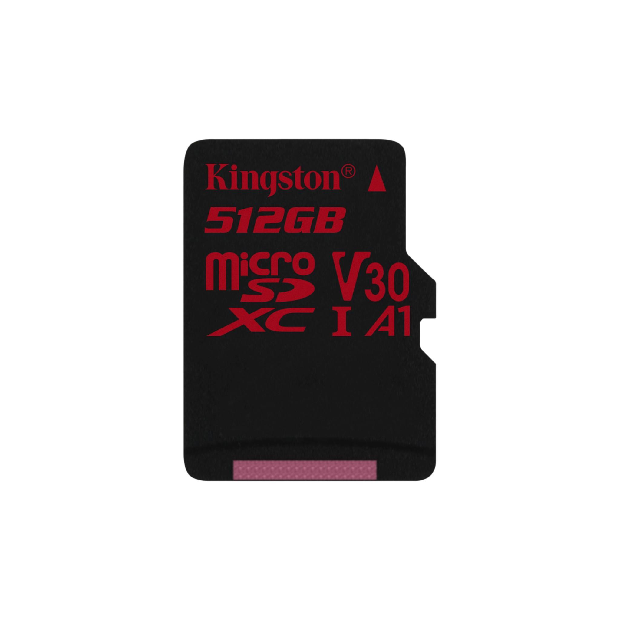 Kingston 512GB MICROSDXC Canvas React 100R//80W U3 UHS-I V30 W//O Adapter