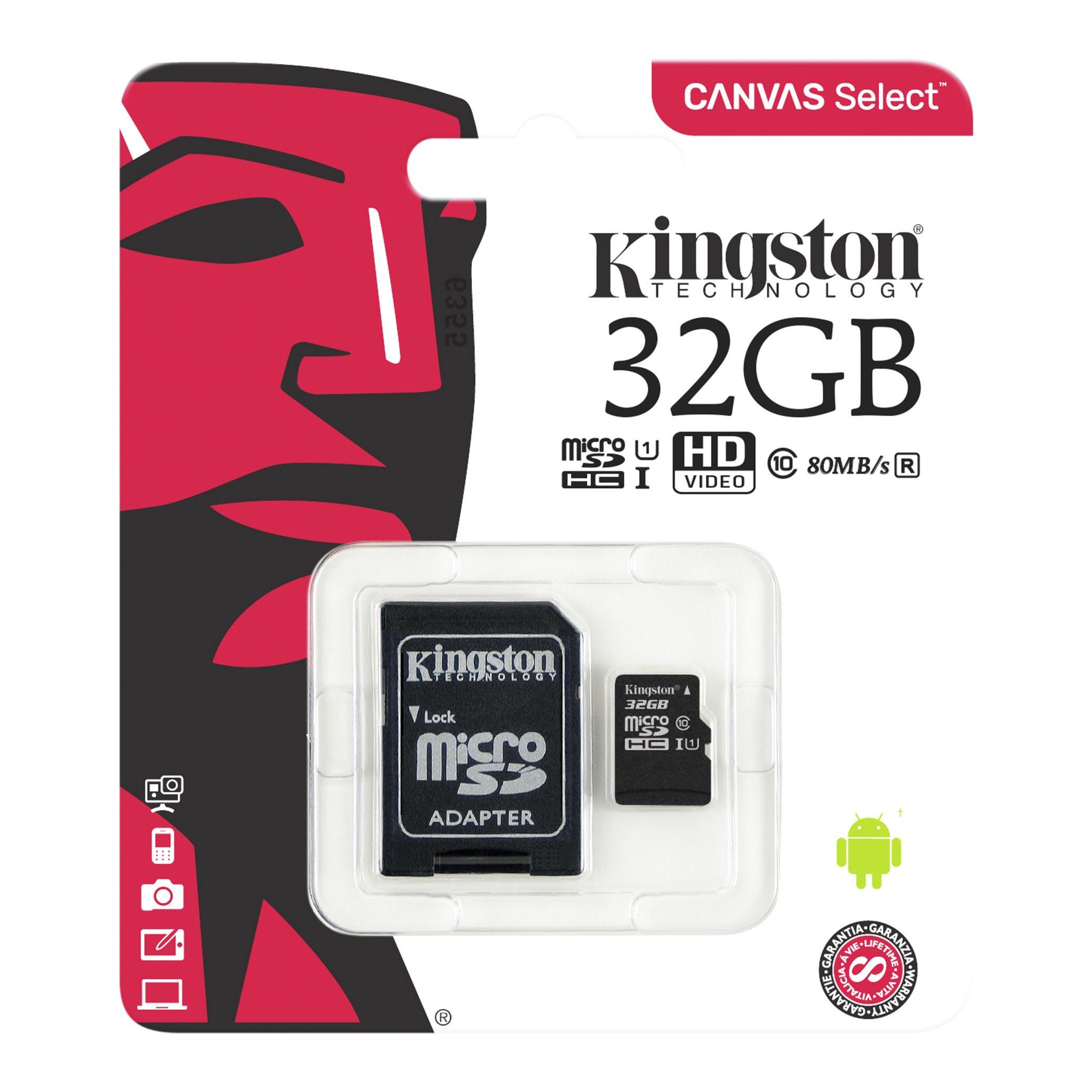 Mini Sd Karte 32gb.Canvas Select Class 10 Uhs I Microsd Card