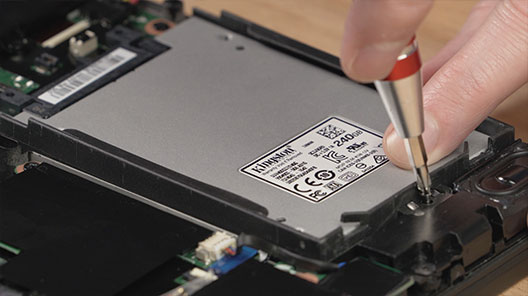 "Step-by-step process on how to install a 2.5"" SSD in your notebook."